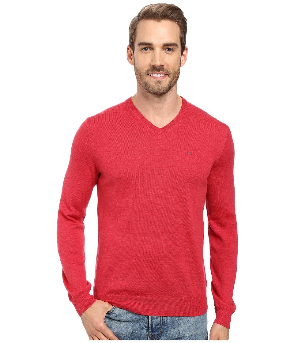 Calvin Klein - Merino Moon and Tipped V-Neck Sweater (Foiano) Men