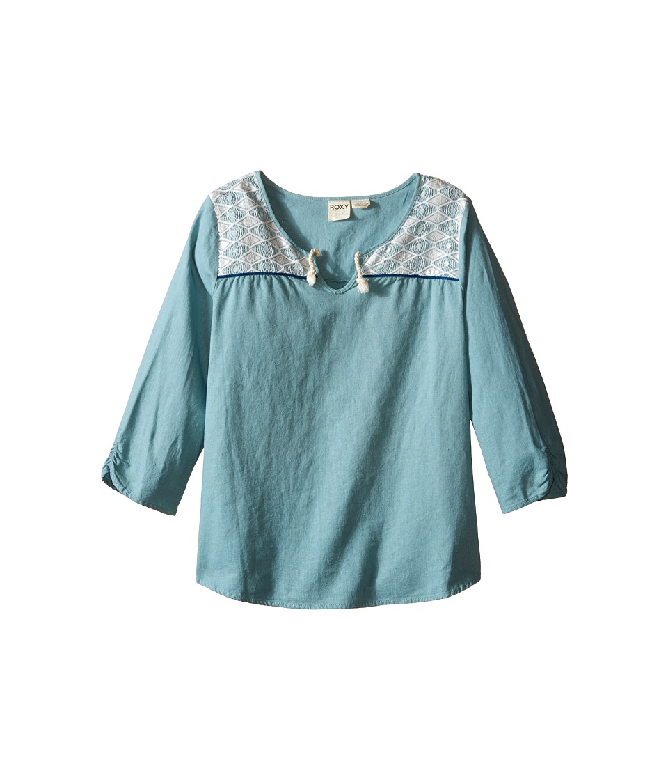 Roxy Kids Free to be Top Big Kids Cameo Blue Girls Clothing