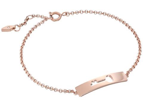 Fossil Cut Out Key Plaque Bracelet