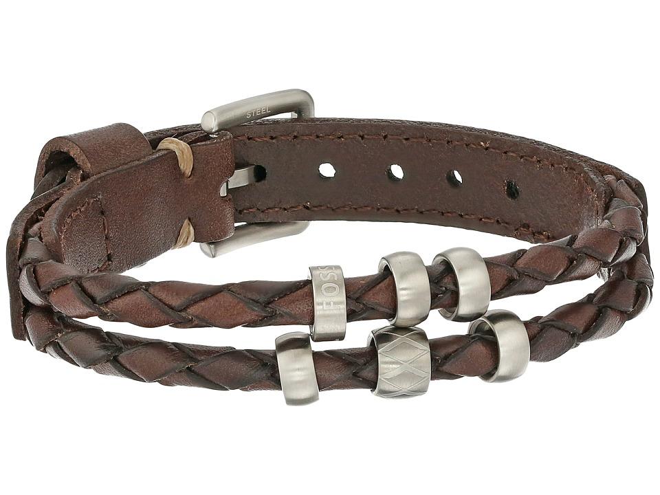 Fossil - Retro Pilot Bracelet (Brown/Silver) Bracelet