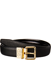 Cole Haan - 25mm Saffiano to Patent Feather Edge Reversible Belt