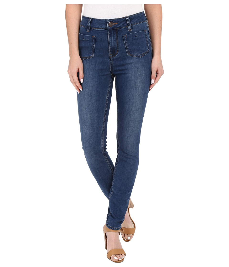 Free People Beverley Skinny Jeans Denim Blue Womens Jeans
