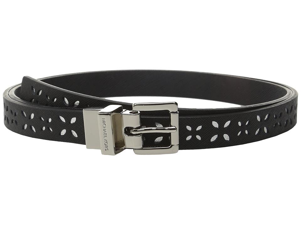 MICHAEL Michael Kors 20mm Reversible Saffiano to Saffiano Belt Black Womens Belts