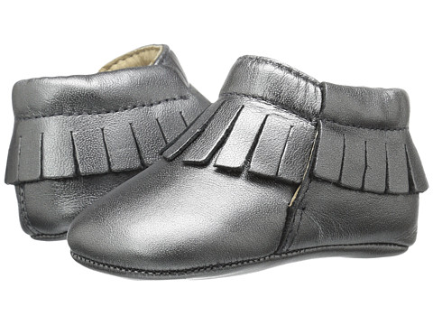 Old Soles Fringe Boot (Infant/Toddler) - Rich Silver