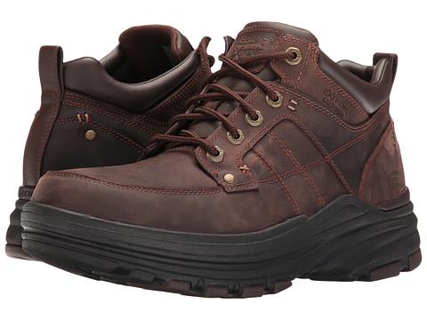 SKECHERS Relaxed Fit Holdren - Lender - Dark Brown Leather