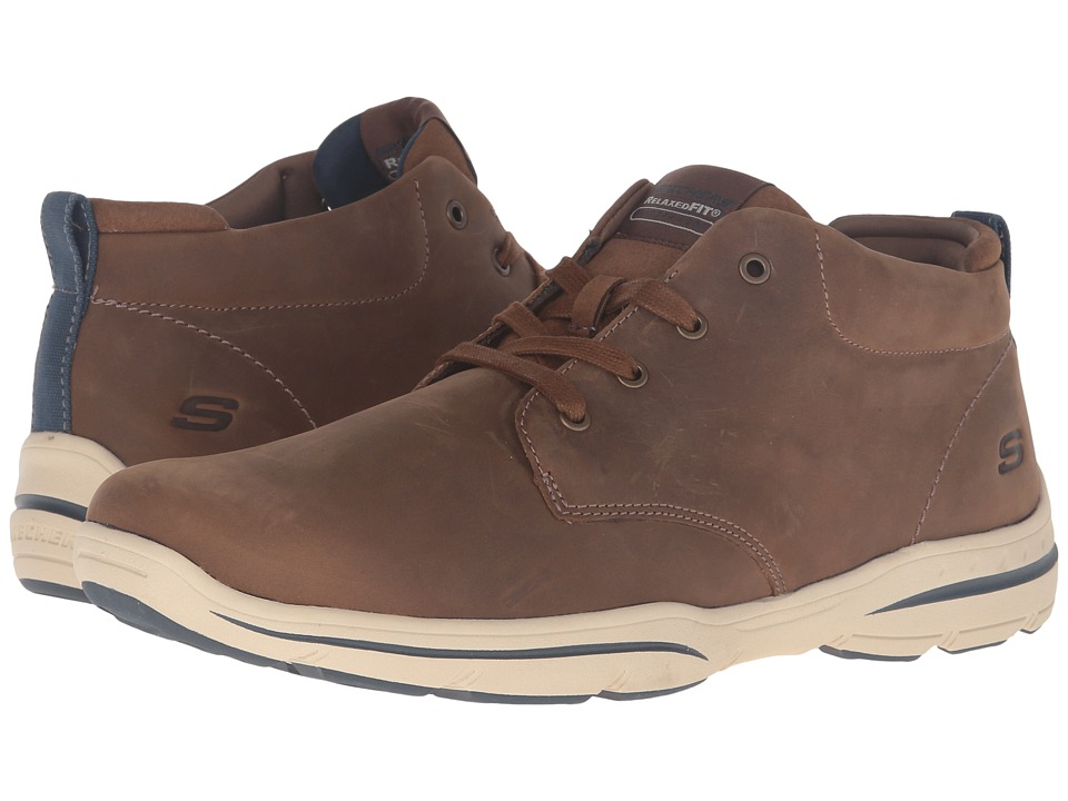 SKECHERS Relaxed Fit Harper Melden (Desert Leather) Men