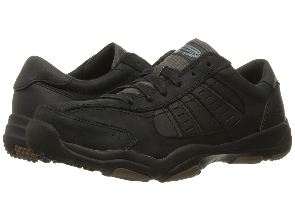 SKECHERS Classic Fit Larson Nerick (Black Leather) Men