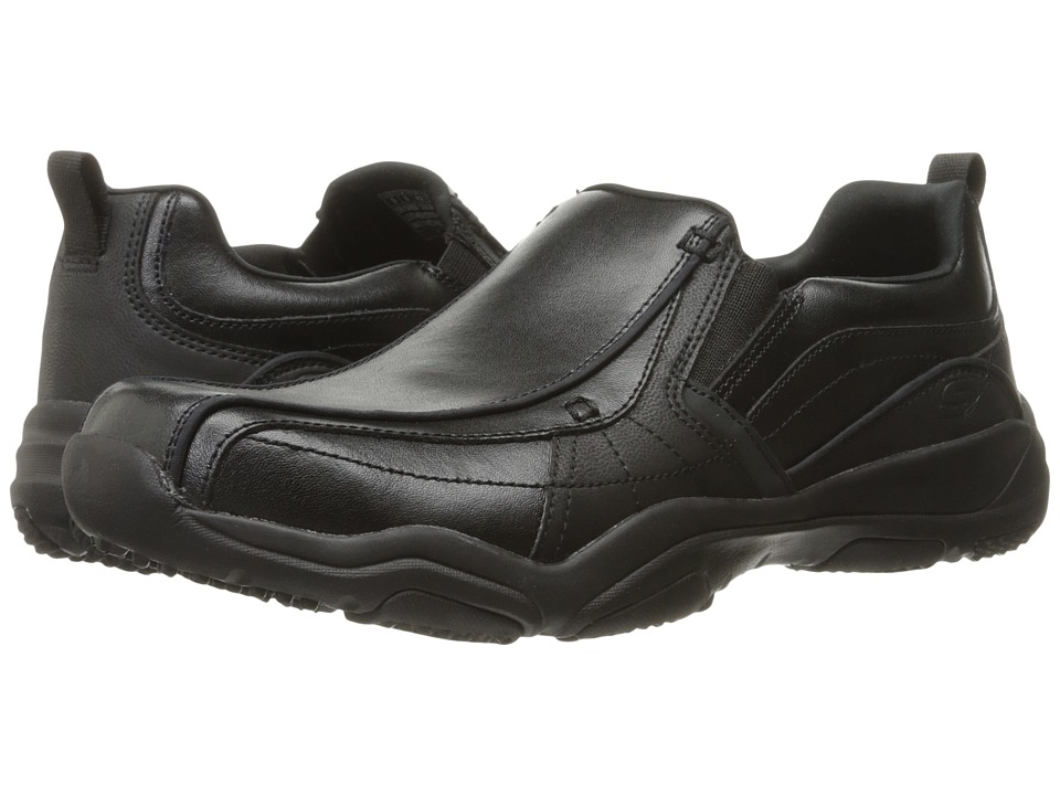 SKECHERS Classic Fit Larson Berto (Black Leather) Men