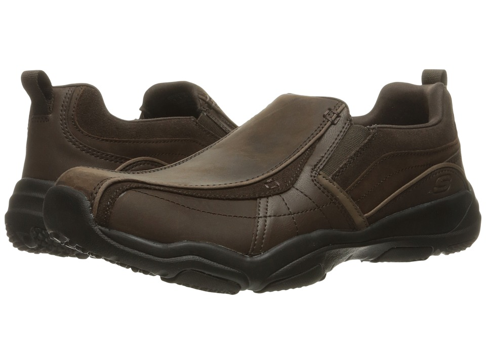 SKECHERS Classic Fit Larson Berto (Dark Brown Leather) Men