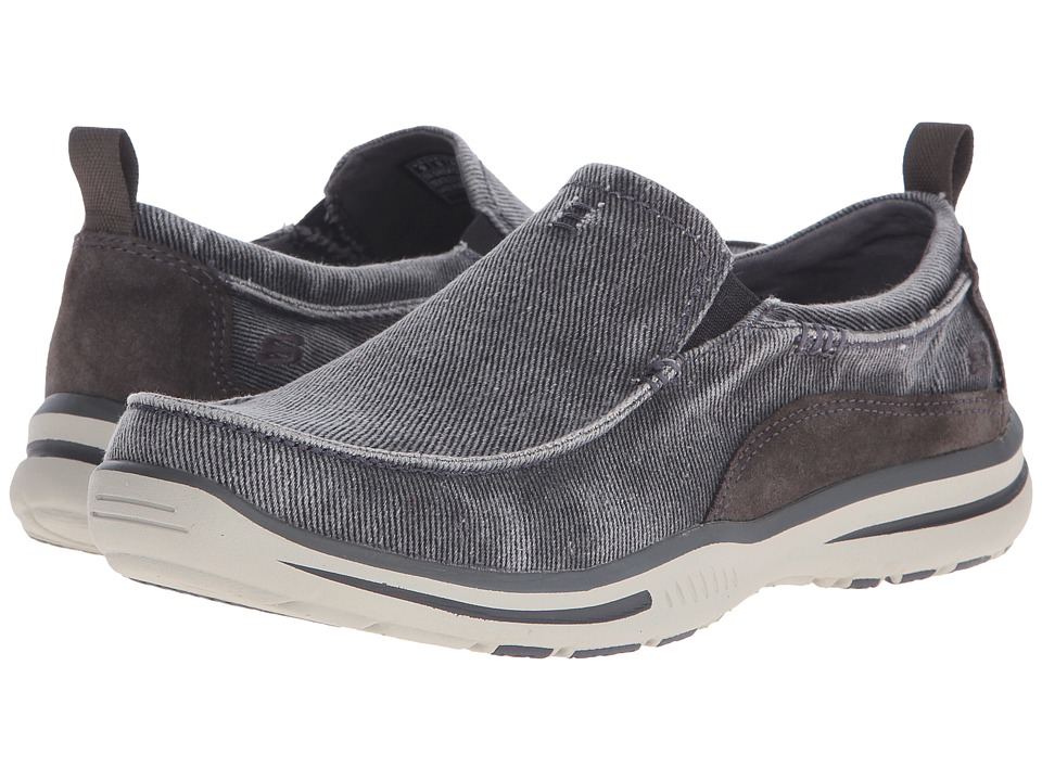 Skechers Relaxed Fit Elected - Drigo (Charcoal Canvas) Me...
