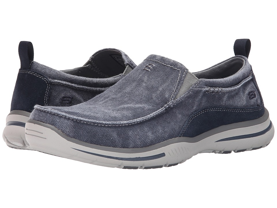 Skechers Relaxed Fit Elected - Drigo (Navy Canvas) Men's ...