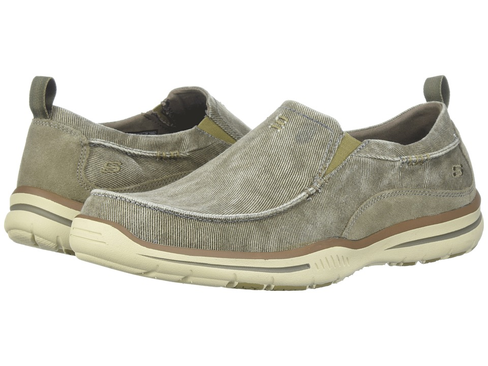 Skechers Relaxed Fit Elected - Drigo (Taupe Canvas) Men's...