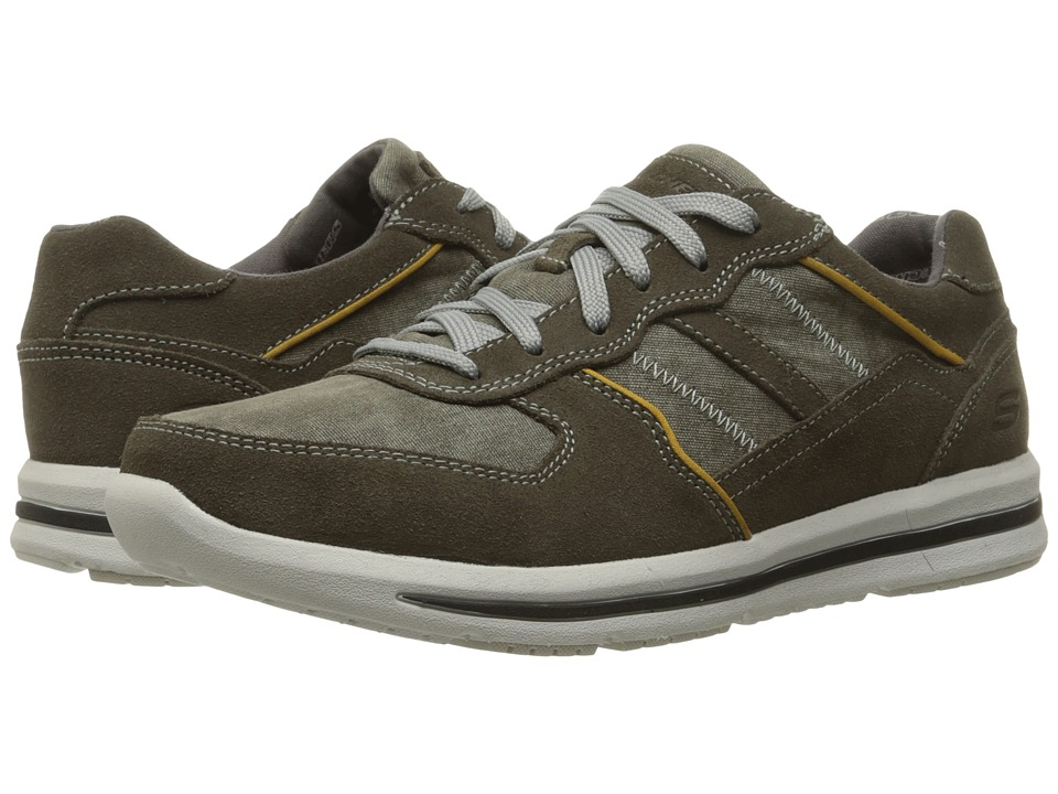 SKECHERS Relaxed Fit Doren Frazer (Olive Suede/Mesh) Men
