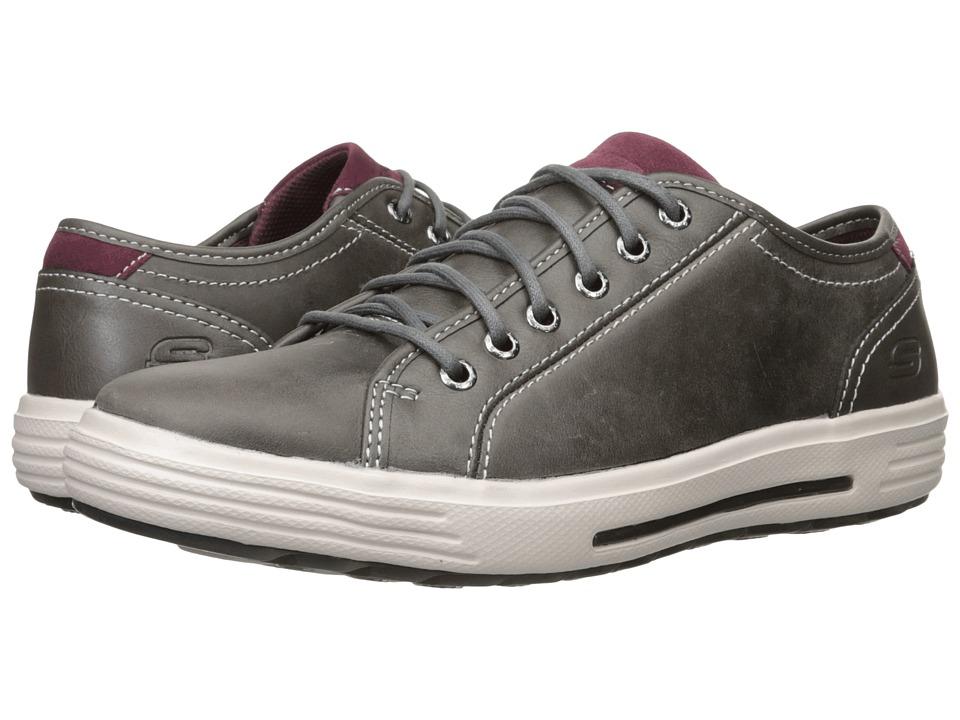 SKECHERS Classic Fit Porter Ressen (Gray Leather) Men