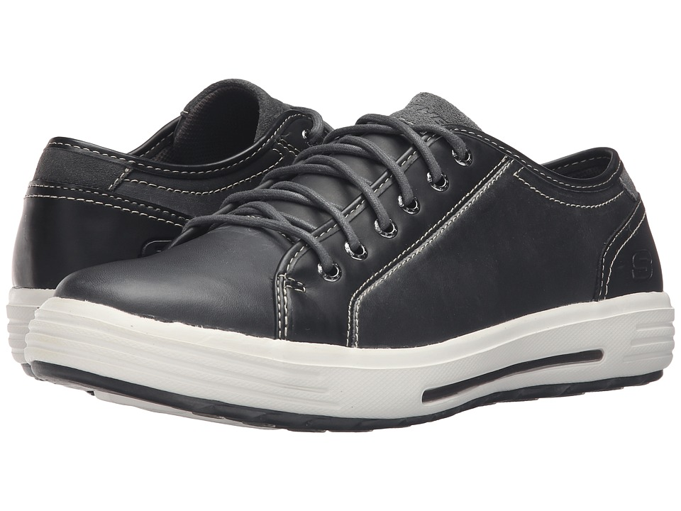 SKECHERS Classic Fit Porter Ressen (Black Leather) Men