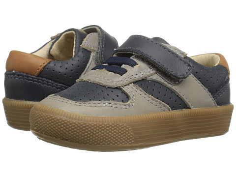 Old Soles Urban Track Shoe (Toddler/Little Kid) - Distressed Navy/Elephant Grey/Tan