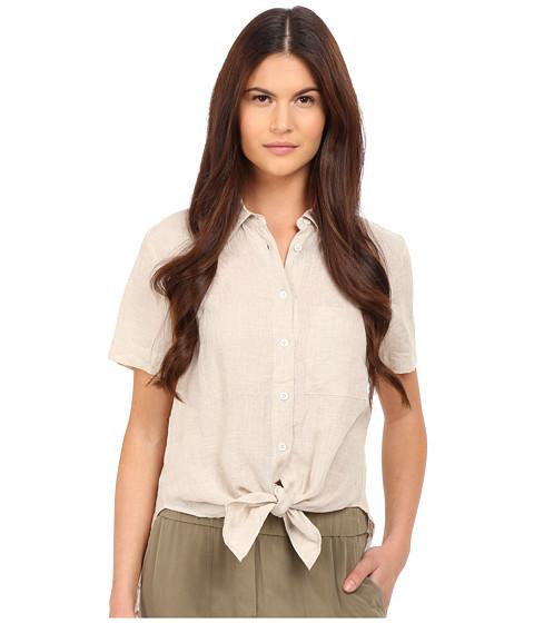 Theory Hekanina Soft Linen Tie Top