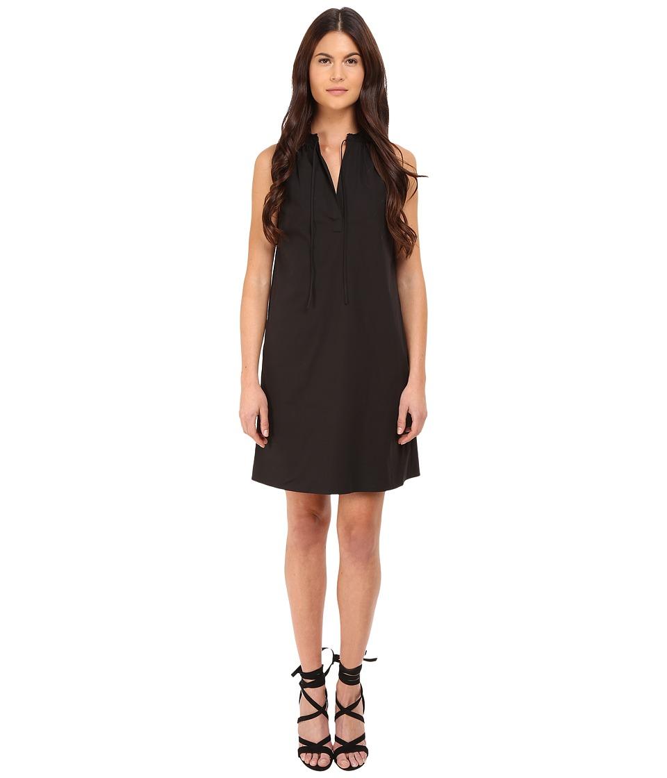Theory Nallane Light Poplin Dress Black Womens Dress