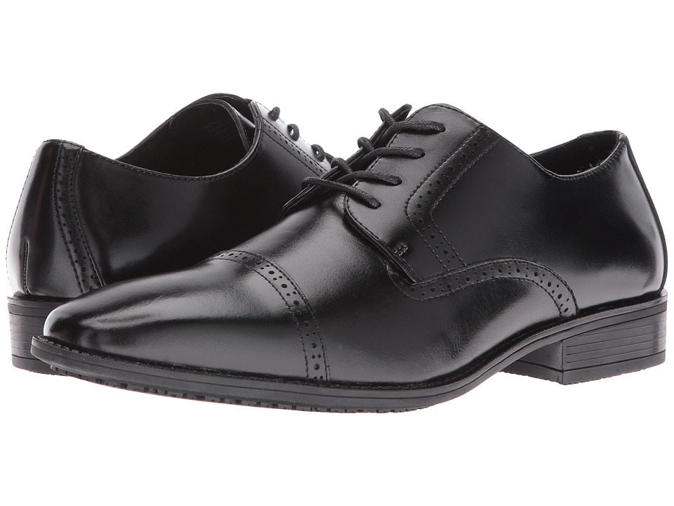 Stacy Adams Abbott Slip Resistant Cap Toe Oxford (Black) Men