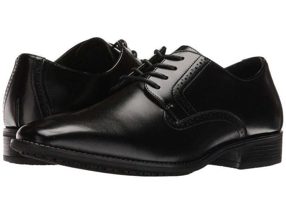 Stacy Adams Ardell Slip Resistant Plain Toe Oxford (Black) Men