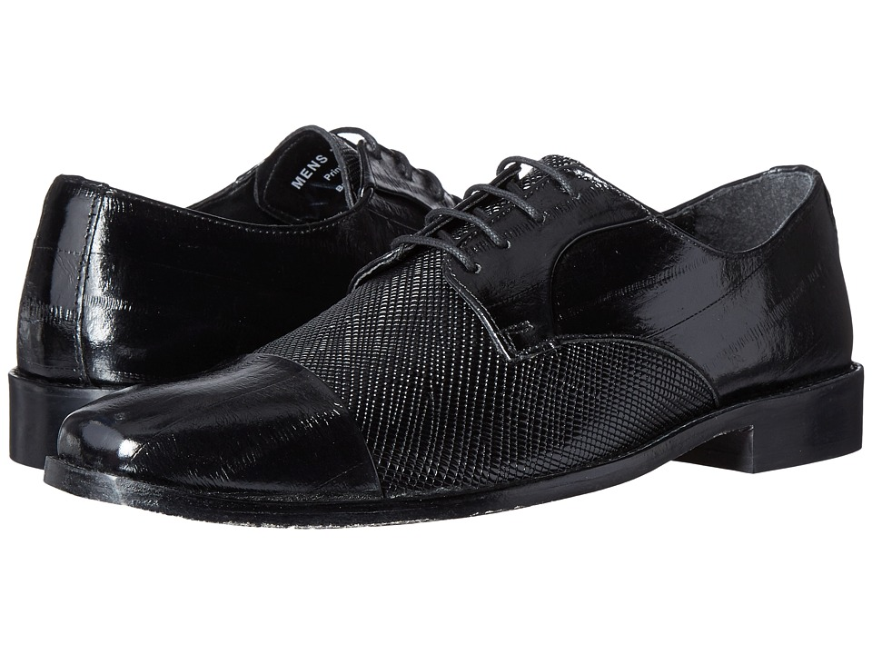 Stacy Adams Gatto Leather Sole Cap Toe Oxford (Black) Men