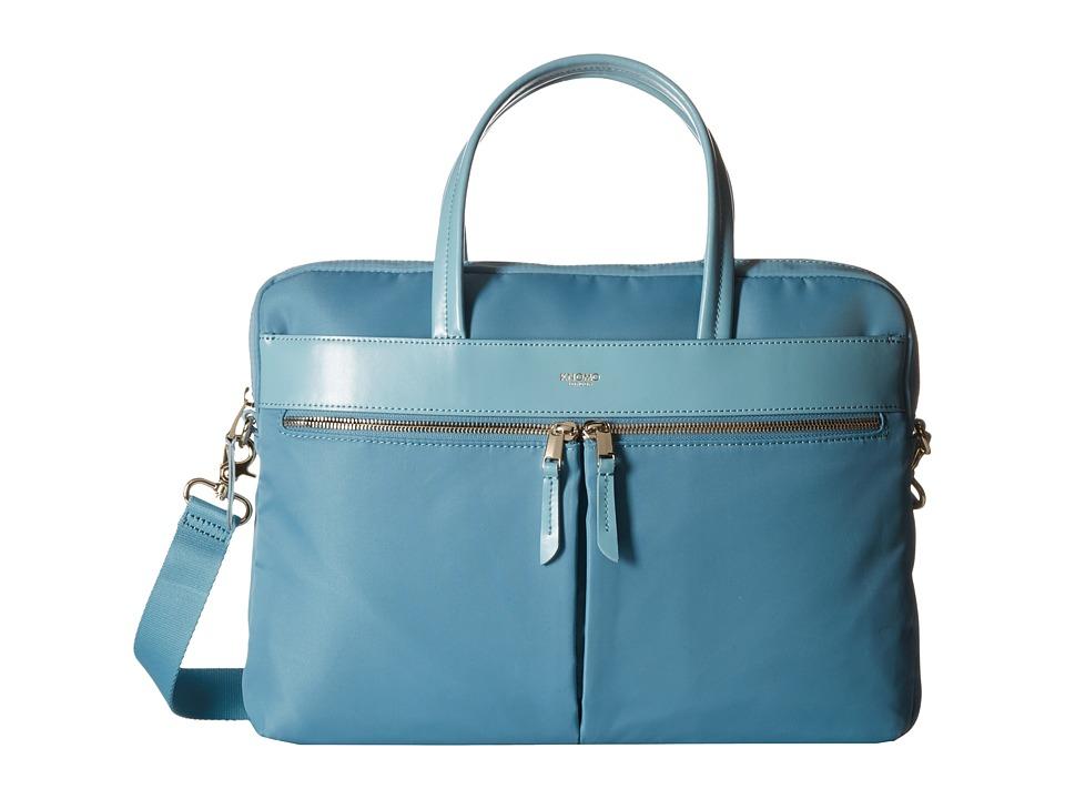 KNOMO London - Hanover Slim Laptop Briefcase (Sea) Briefcase Bags