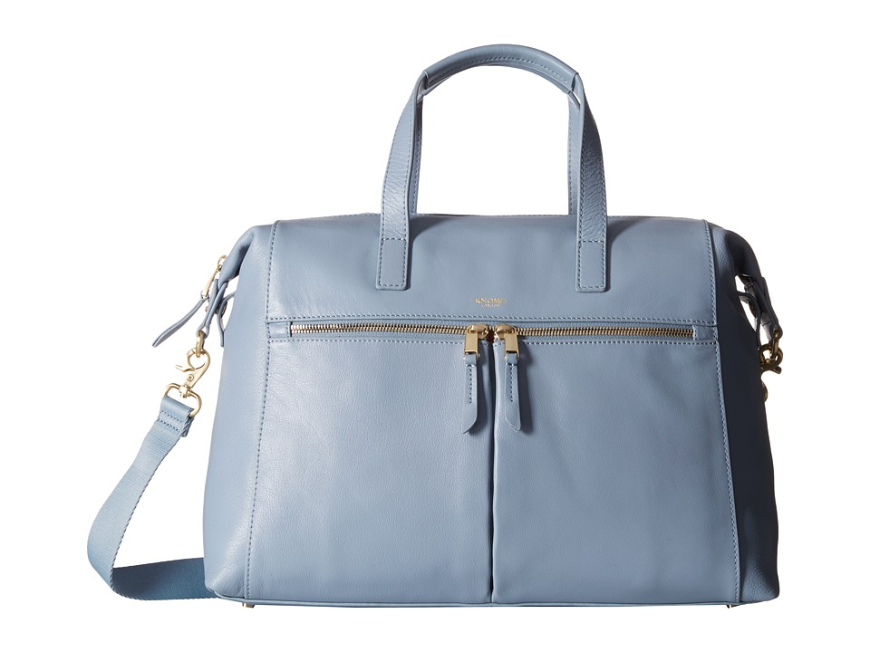 KNOMO London Audley Leather Slim Laptop Tote Lido Tote Handbags