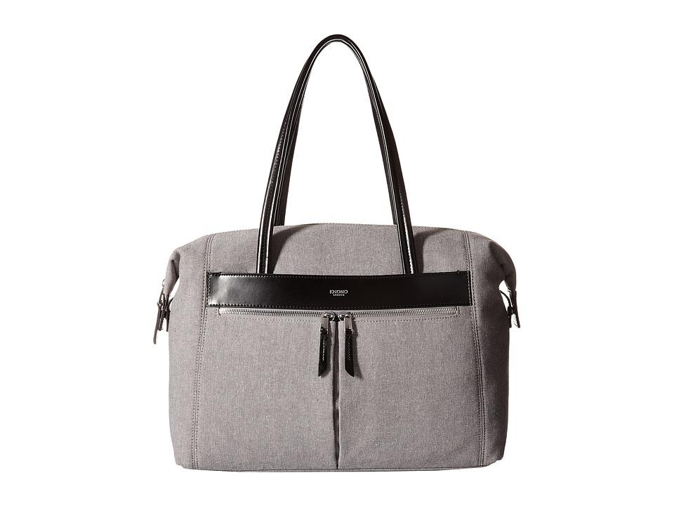 KNOMO London - Curzon Laptop Shoulder Tote (Grey) Tote Handbags