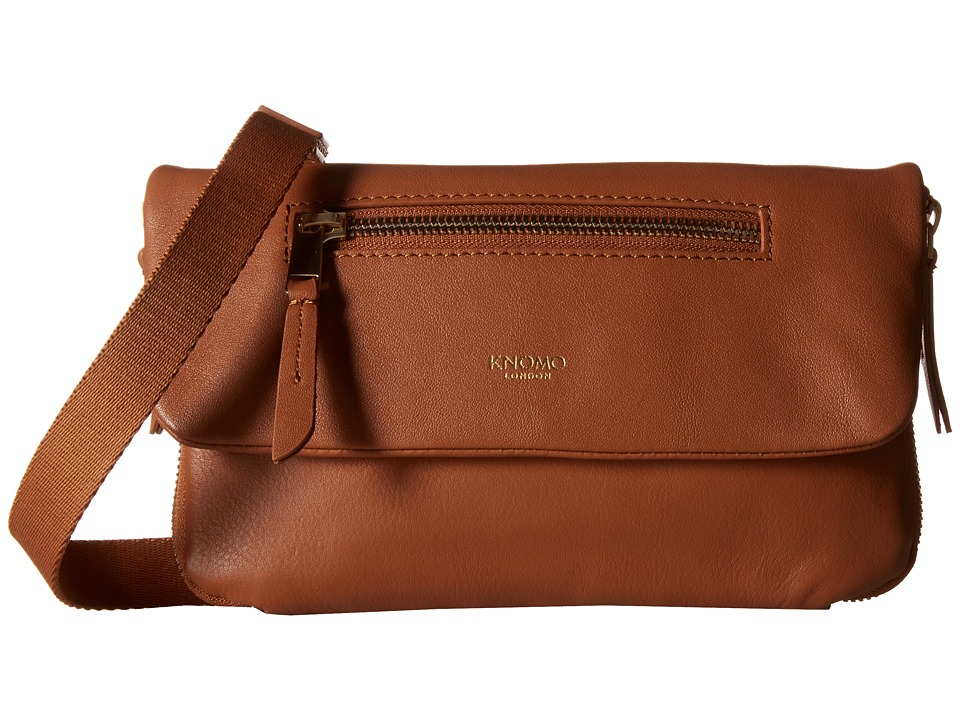 KNOMO London - Elektronista Mini Smartphone Clutch Bag (Caramel) Cross Body Handbags