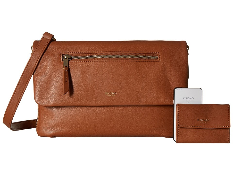 KNOMO London - Elektronista Digital Clutch Bag (Caramel) Clutch Handbags