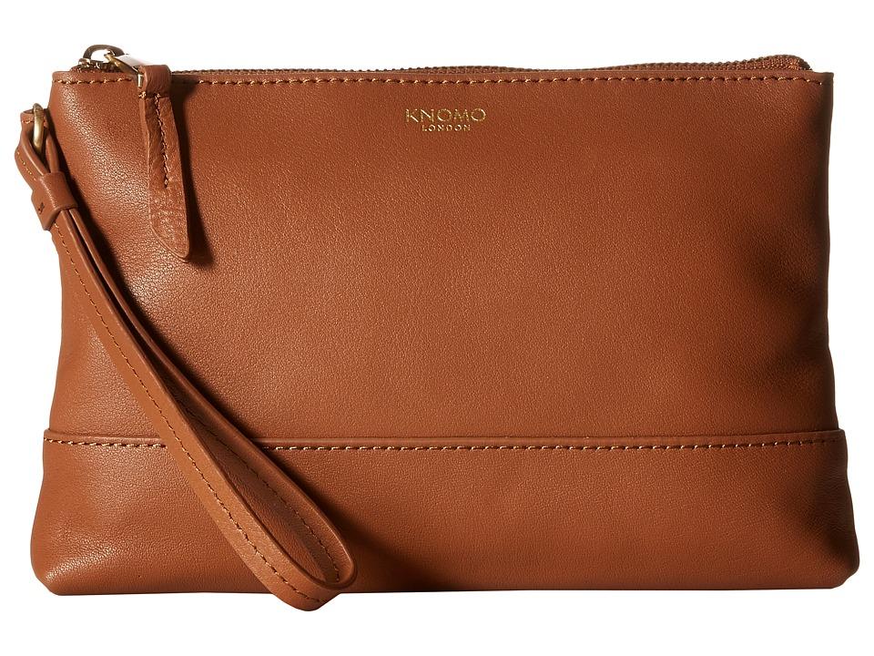 KNOMO London - Bond Smartphone/Charging Power Purse (Caramel) Handbags