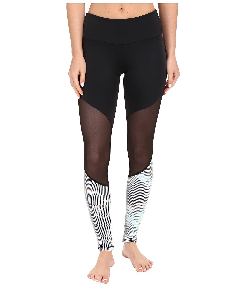 Onzie Track Leggings Black/Black Mesh/Techno Womens Casual Pants