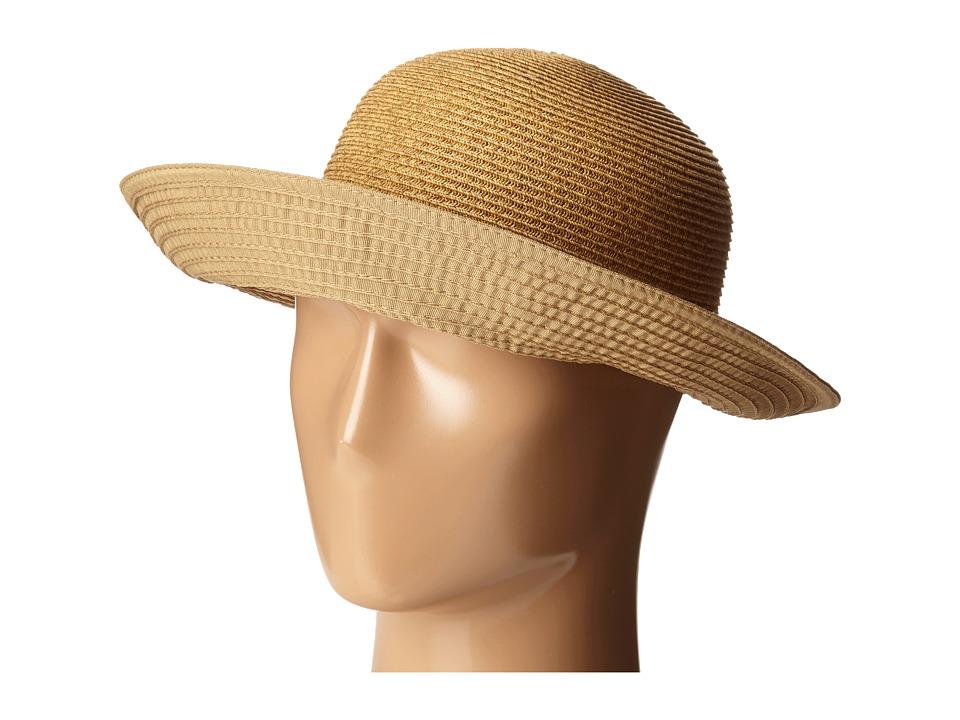 SCALA Ribbon and Paper Braid Facesaver Tan Caps