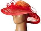 SCALA Cryn and Sinamay Big Brim (Red)
