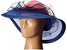 SCALA Cryn and Sinamay Big Brim (Cobalt Blue)