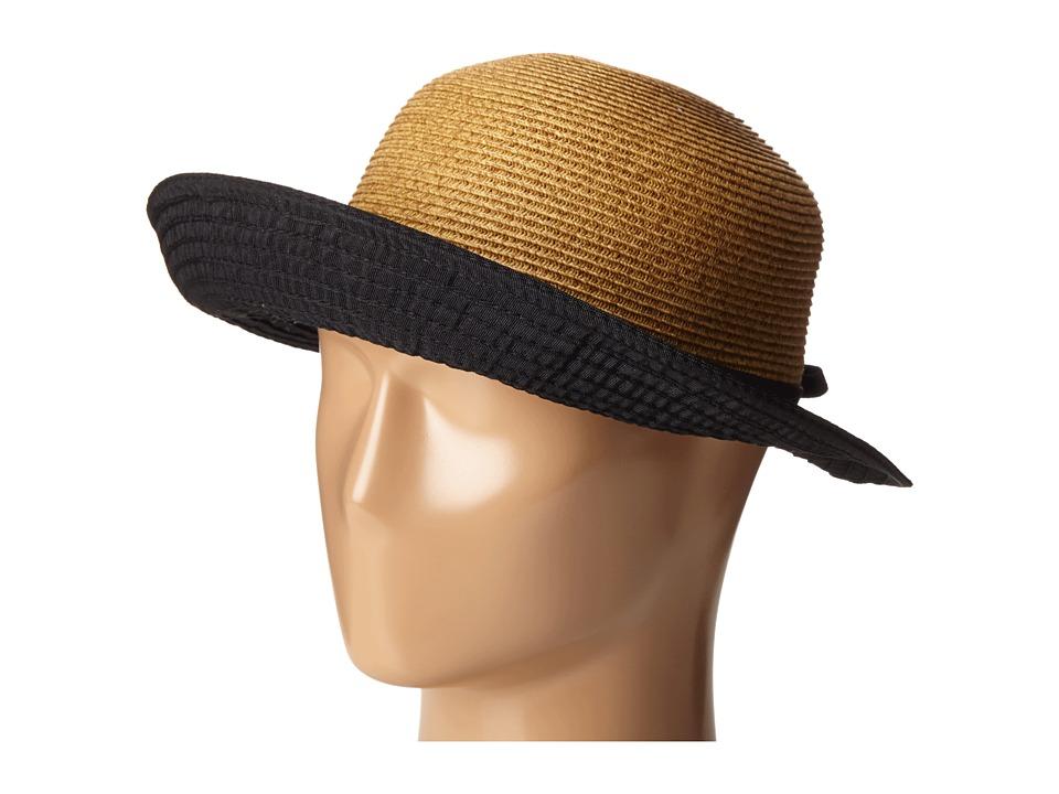 SCALA Ribbon and Paper Braid Facesaver Black Caps