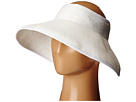 SCALA Packable Two-Tone Paper Braid Visor (White)