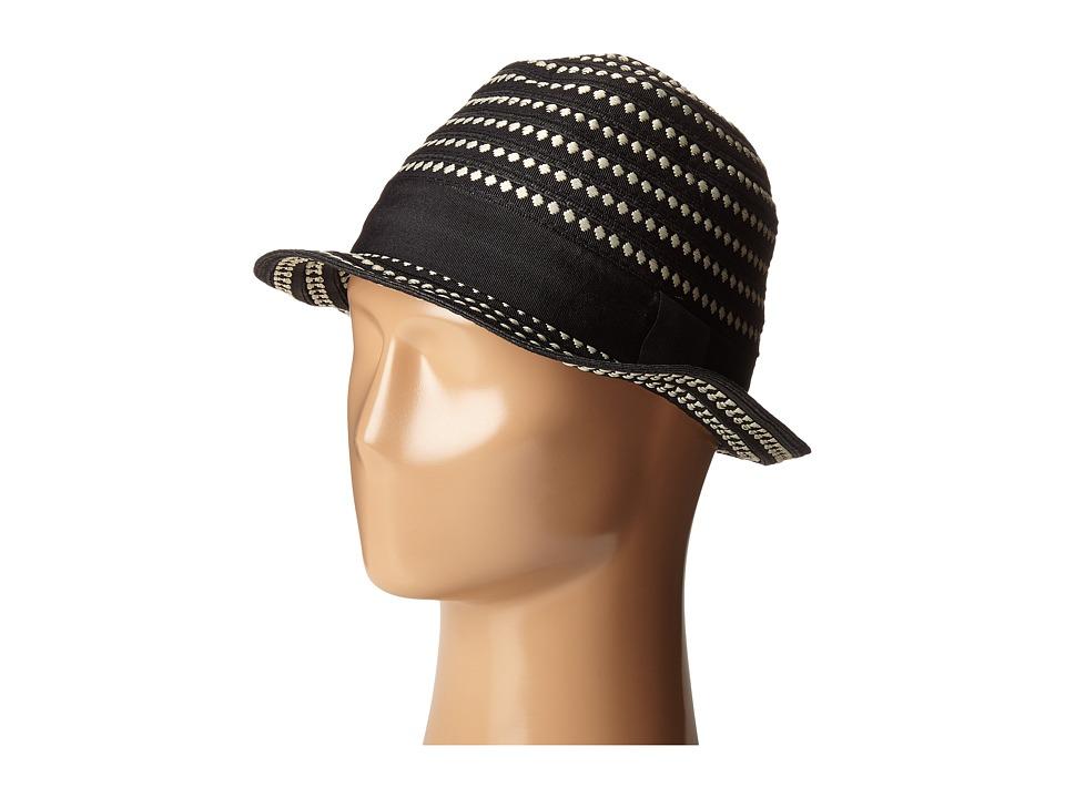 SCALA Ribbon Braid Fedora Black Caps