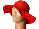 SCALA Crushable Big Brim Ribbon Sun Hat (Poppy)