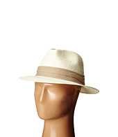 SCALA - Fancy Toyo Fedora with Pleat Cotton Trim