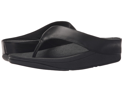 FitFlop Ringer Toe Post - All Black