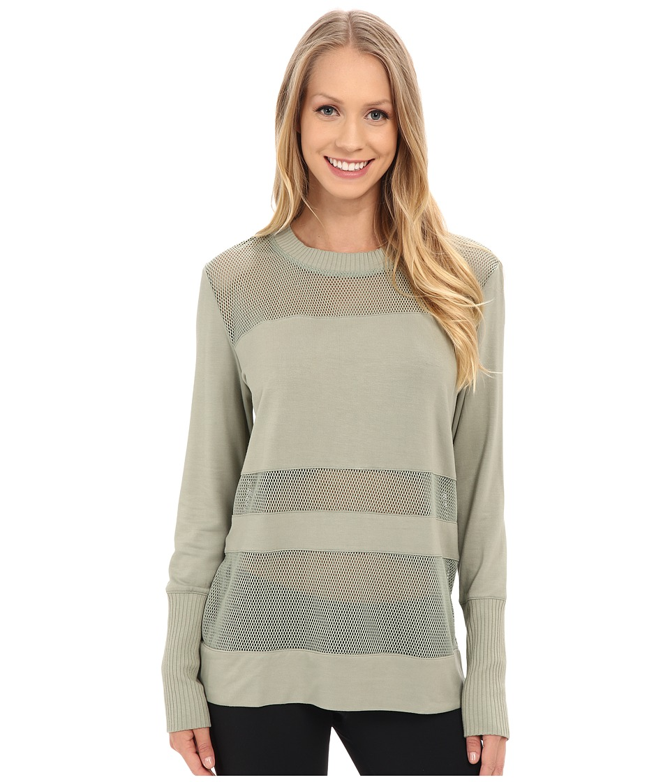ALO Plank Long Sleeve Top Sea Mist Womens Clothing