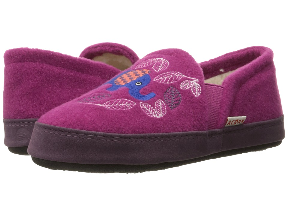Image of Acorn Kids - Colby Gore Moc (Toddler/Little Kid/Big Kid) (Magenta Elephant) Girl's Shoes