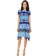 London Times - Summer Ikat Short Sleeve Hanky Dress