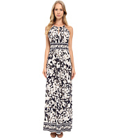 London Times - Keyhole Halter Maxi Dress