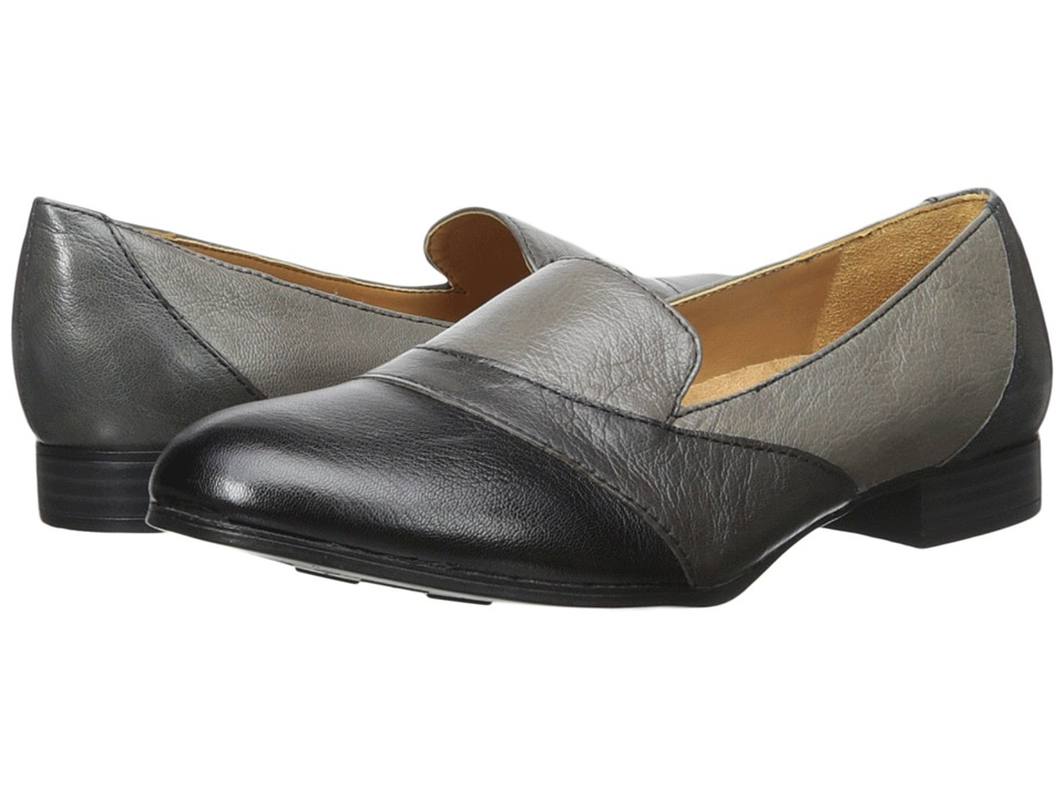 Naturalizer - Coretta (Grey/Black Leather) Women