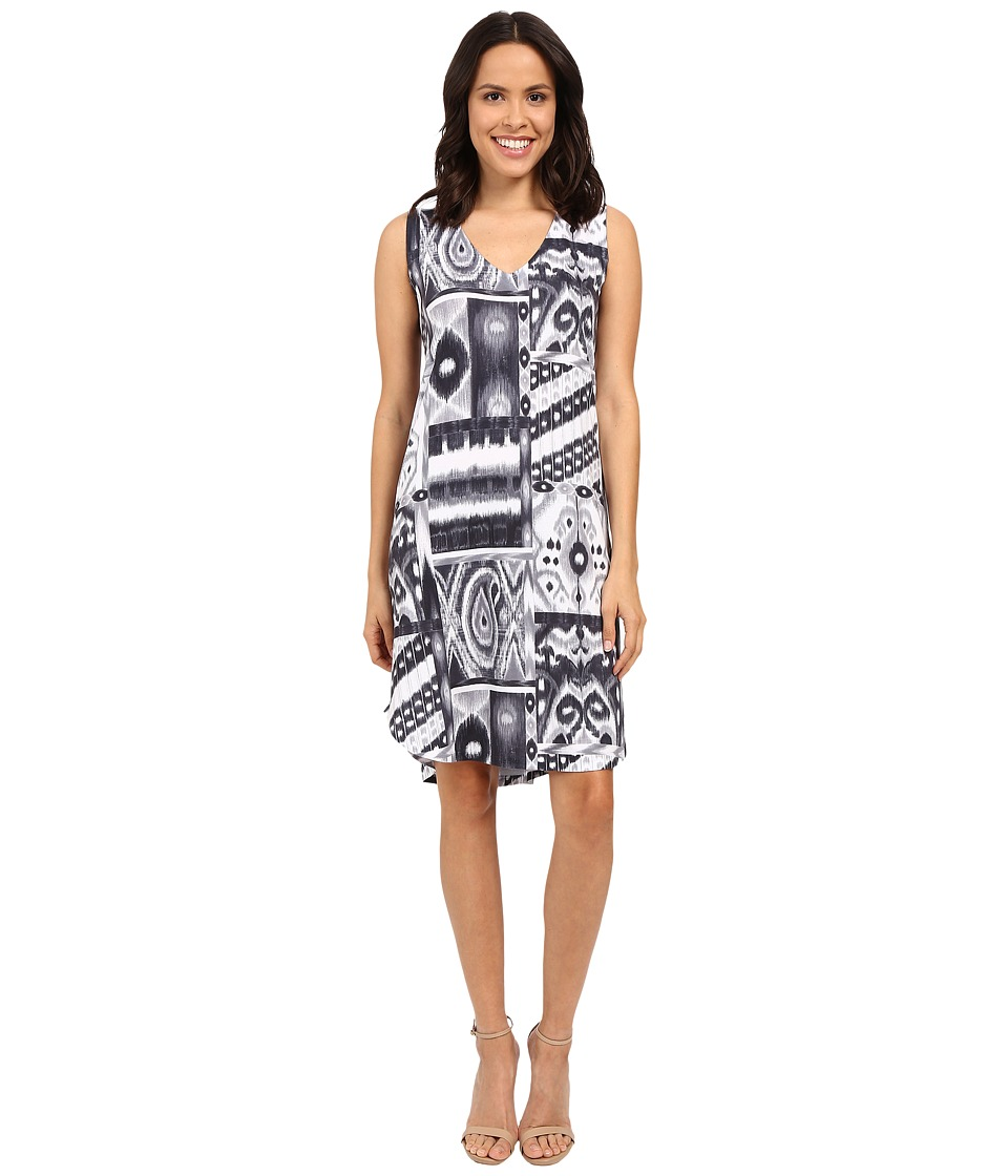 Nally amp Millie Black/Grey V Neck Dress Multi Womens Dress