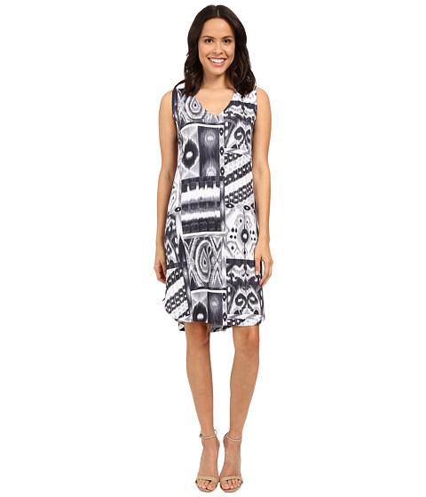 Nally & Millie Black/Grey V-Neck Dress