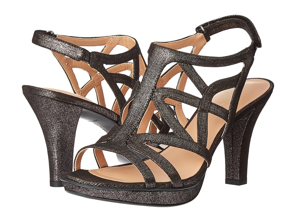 Naturalizer Danya (Black/Pewter Metallic) Sandals