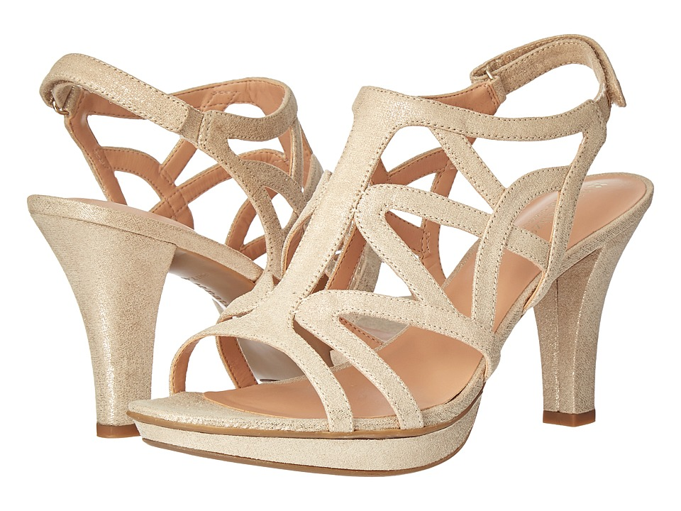 Naturalizer Danya (Taupe/Gold Metallic) Sandals